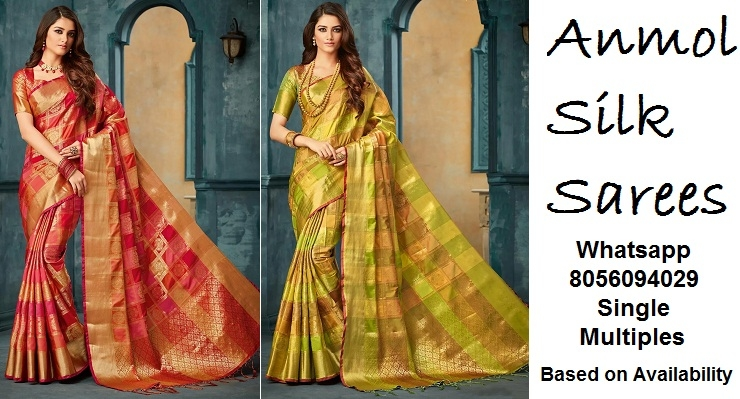 Anmol Kora Multicolor Silk Sarees — Womenz Fashion