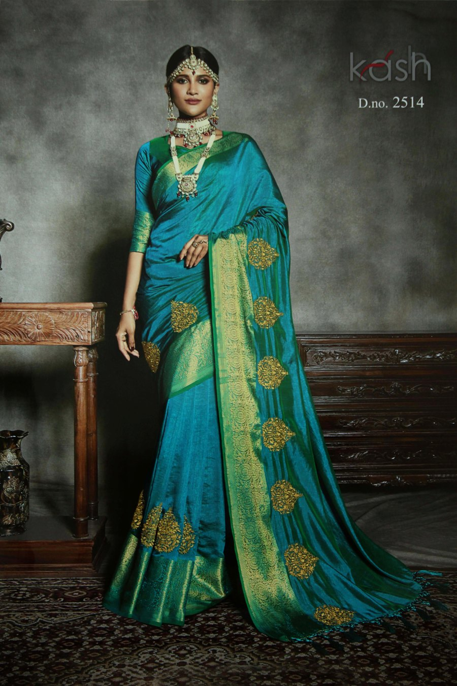 72d1b20b45 Light Weight Silk Embroidery Work Designer Sarees — Womenz Fashion